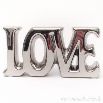 Aufsteller-LOVE silber
