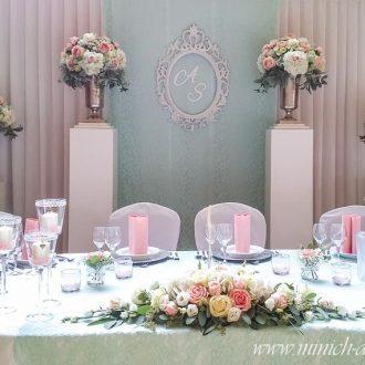 Brautpaartisch-Hintergrund mint, Festsaal in Wellingholzhausen
