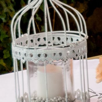 Deko-Vogelkäfig Windlicht, vintage Hochzeitsdeko, Verleihservice