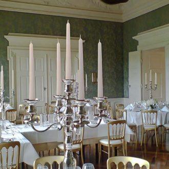 Kerzenleuchter silber 80cm hoch, Verleih von Kerzenständern