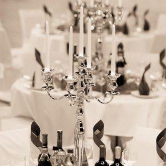Kerzenständer silber 5-armig H80 cm, Verleih von Kerzenleuchter