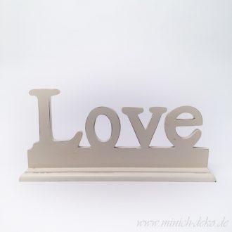 Aufsteller Love weiss