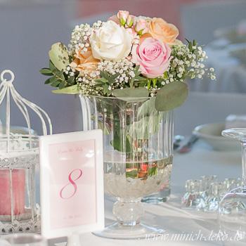 Vintage Glasvasen für Vintage Hochzeit - mieten