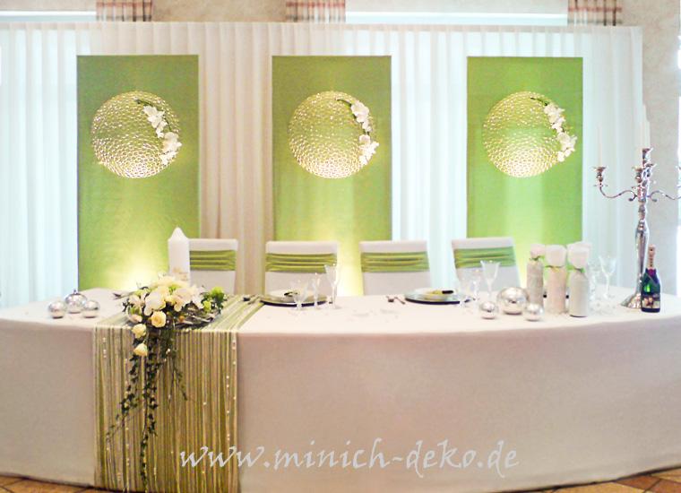Brauttisch Deko grün