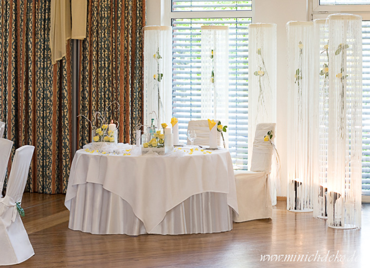 Brauttisch Deko-Service im Best-Western-Hotel in Bielefeld