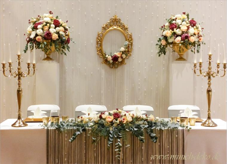 Brautpaartisch deko f r ihre hochzeit dekoservice for Brauttisch deko