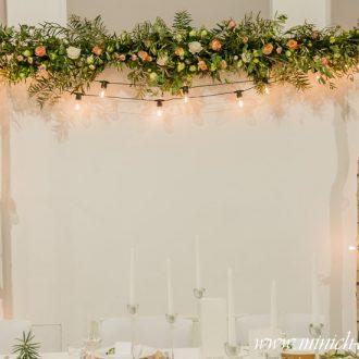 Brautpaartisch-Hintergrund Birke | Sitzplan, Platzanweiser Birke | Hochzeitsdekoration