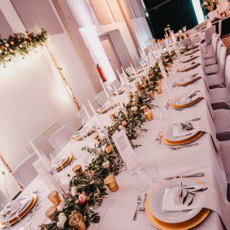 Brauttisch, Trendy Greenery Wedding