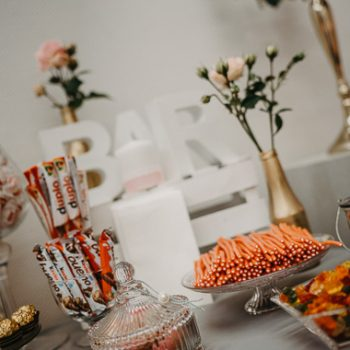 Candy Bar, gold - für Hochzeit, Geburtstagsparty oder andere Anlässe