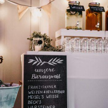 Cold Drinks Tafel für Hochzeit, Geburtagsfeier oder andere Anlässe