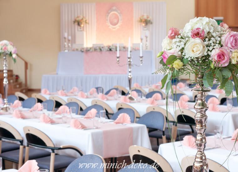 Hochzeitsdeko-Blumengesteck, Blumenständer