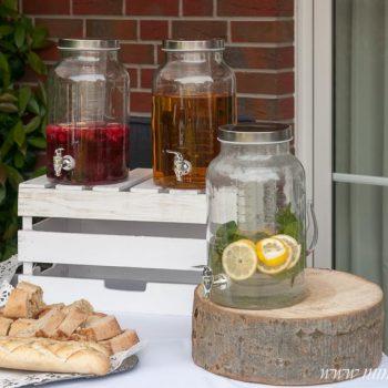 Erfrischende Limonade, Getränkespender