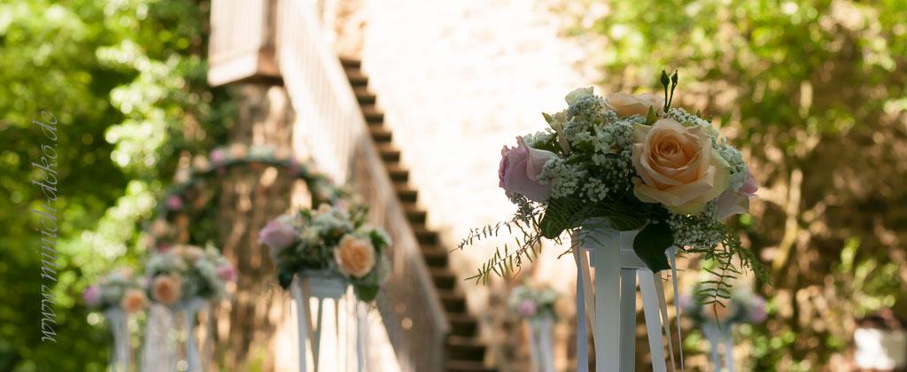 Freie Trauung - Hochzeitsdeko Aussendekoration, Deko Service für Ihre Hochzeit