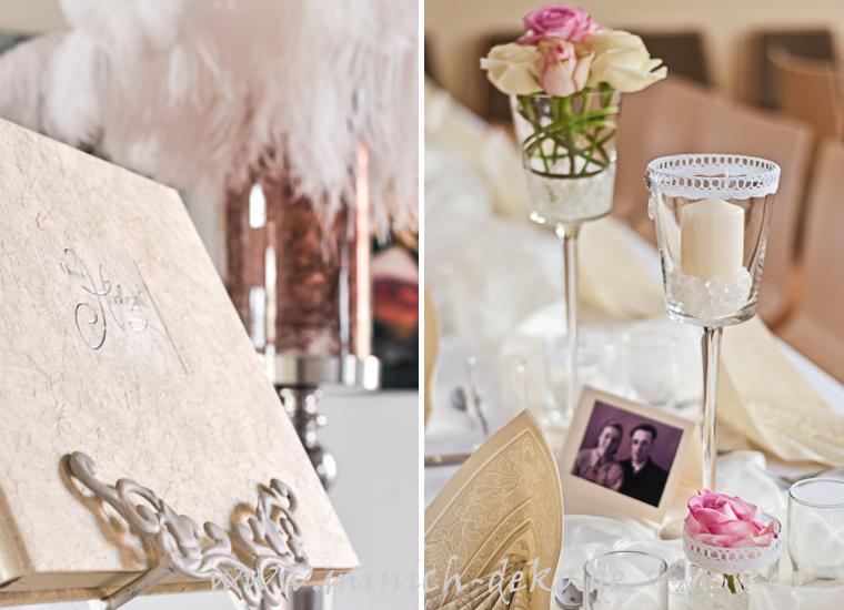 Gästebuch-Ständer, Tischdeko, Stiel-Vasen