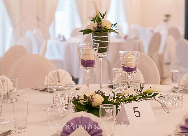 Hochzeits-tischdeko, Blumendeko, Pokal-Glasvasen
