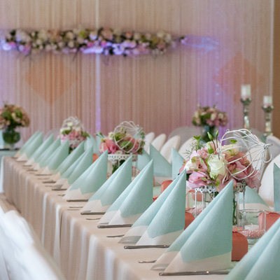 Hochzeitsdeko, Dekoservice, Vintage-Dekoration