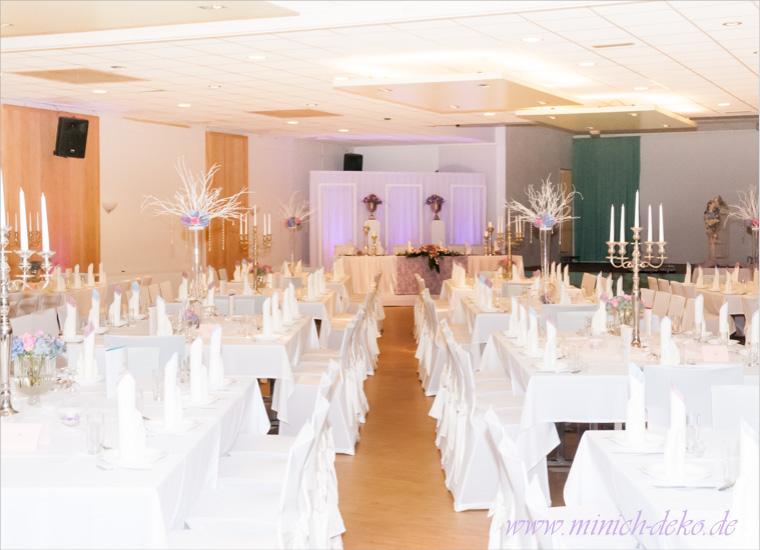 Hochzeitsdeko-Service in der Schießhalle Blomberg