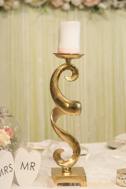 Brautpaartisch Kerzenständer-gold