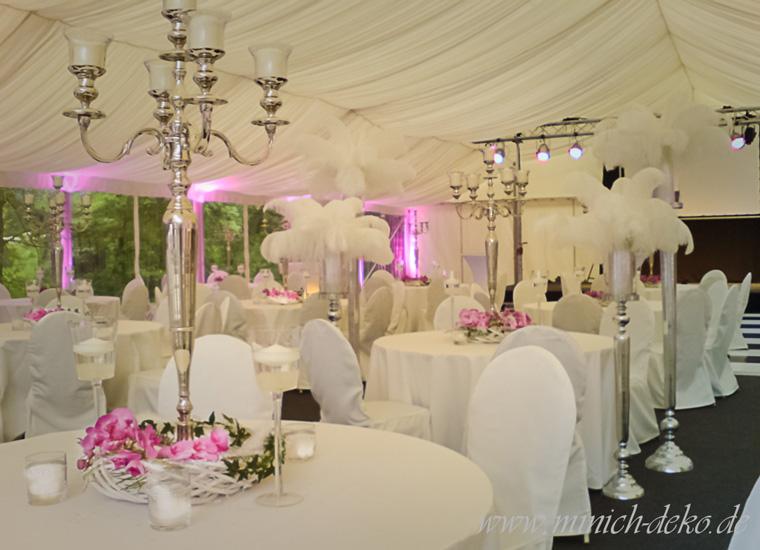 Hochzeitsdekoration am Jagdschloss-Habichtswald