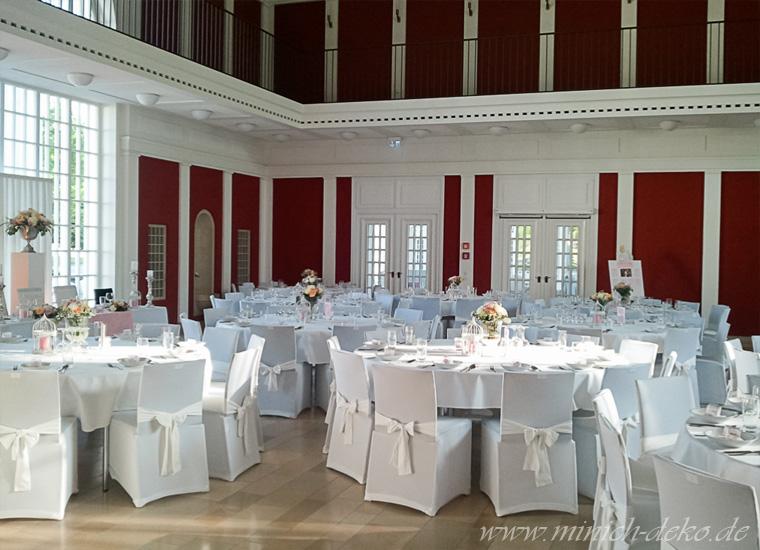 Hochzeitsdeko-Service, Farbe weiß-rosa