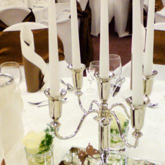 Kerzenleuchter 5-arm silber 32cm hoch