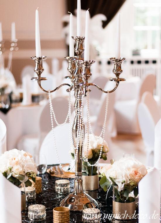 Kerzenständer H80cm gatsby-stil
