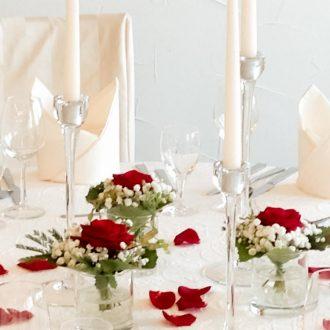 Kerzenständer 3er-Set klarglas Höhe 24, 28 und 32cm - mieten