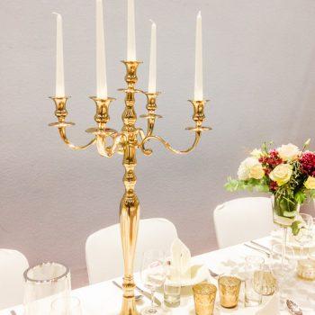 Kerzenständer 5-arm-goldfarben-mieten
