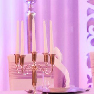Kerzenständer silber 5-armig H 32cm