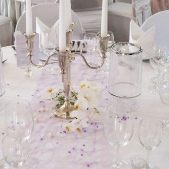 Kerzenständer 5-arm silber H 32cm