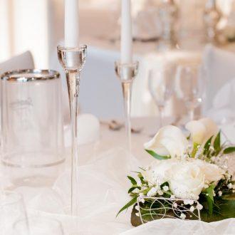 Kerzenständer klarglas 1-Arm, Verleih