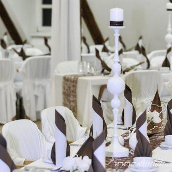 weißer Kerzenständer H 63cm