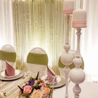 Kerzenständer weiss, Brauttisch Deko, vintage Stil