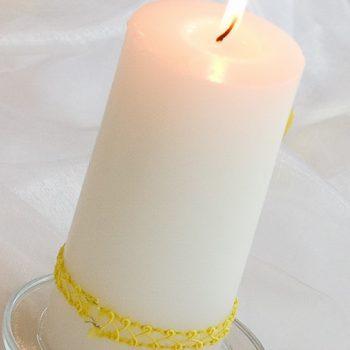 Kerzenuntersetzer glas klar, Tischdeko Verleihservice
