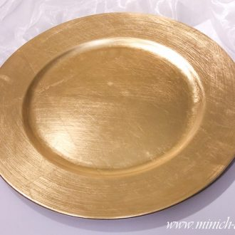 Platzteller rund gold, D 33cm