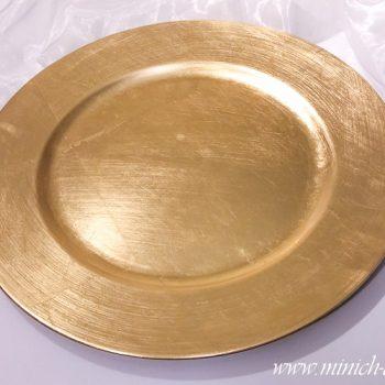 Platzteller-rund gold, D 33cm
