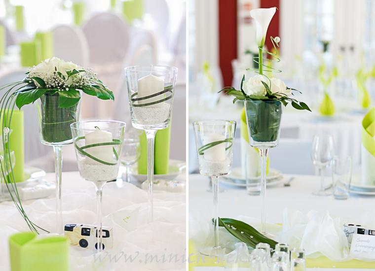 Pokal Glasvase, Stiel-Glasvase, Stumpenkerze, Blumendeko, mieten