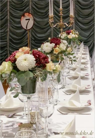 Tischdeko Hochzeit - Stadthalle Detmold