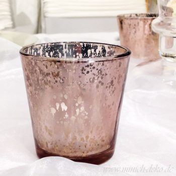 vintage teelichthalter bronze-kupfer verspiegelt bei Minich-Deko mieten