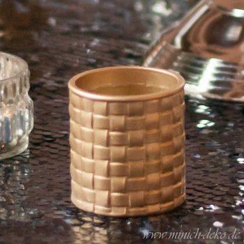 Teelichthalter in gold - vintage Deko für Hochzeit, Vermietung