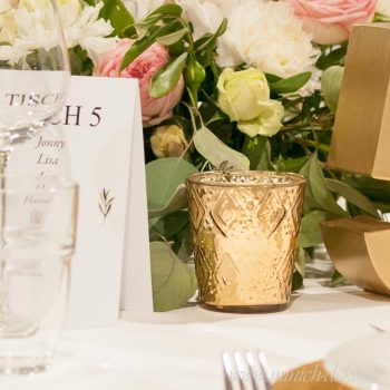 teelichthalter in gold, Hochzeitsdeko im vintage Stil mieten