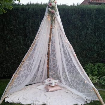 Tipi Hochzeitsdeko Boho - Vintage Deko