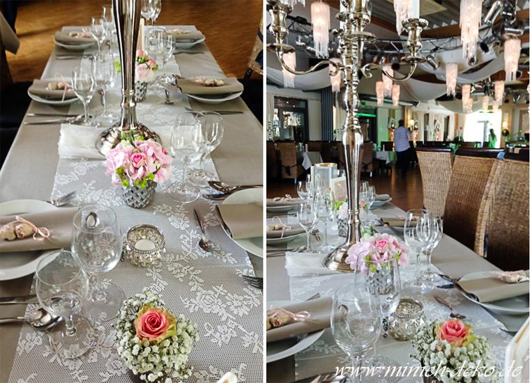 Tischdekoration Blumendeko, Teelichthalter mieten