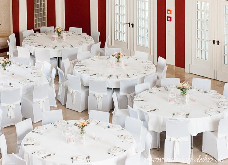 Hochzeits-Tischdekoration Mietservice. Wandelhalle in Bad-Oeynhausen