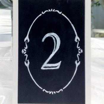 tischnummern-tafel, vintage deko