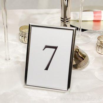 Tischordnung-Tischnummernhalter classic silber B 14cm H 19cm (vermietung)