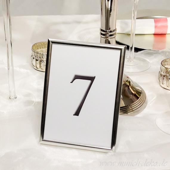 Tischordnung-Tischnummernhalter classic silber B 14cm H 19cm, Vermietung
