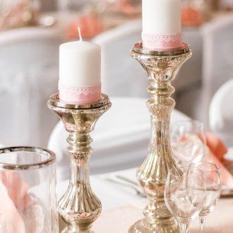 Kerzenständer Bauernsilbern, Vintage Deko für Hochzeit mieten