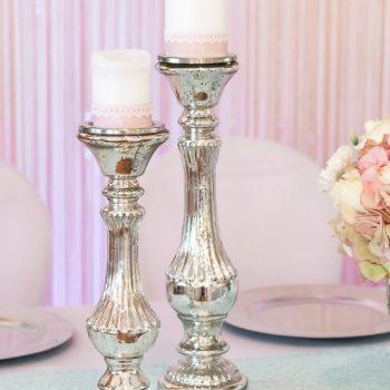 Vintage Kerzenständer bauernsilber 2er-Set | Vintagehochzeit