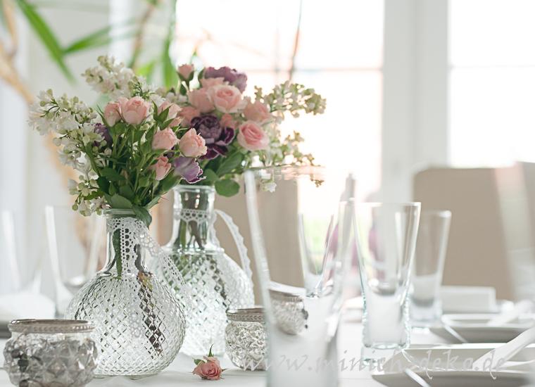 Kugel-Vase glas in Vintage Stil